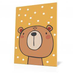 Wanddoek Friends with dots - Bear