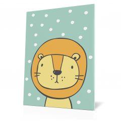 Wanddoek Friends with dots - Lion