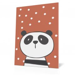 Wanddoek Friends with dots - Panda