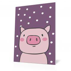 Wanddoek Friends with dots - Pig