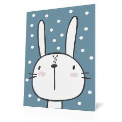 Wanddoek Friends with dots - Rabbit