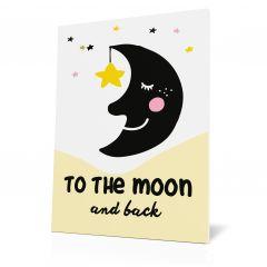 Wanddoek My heroes - The Moon