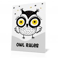 Wanddoek My heroes - Owl